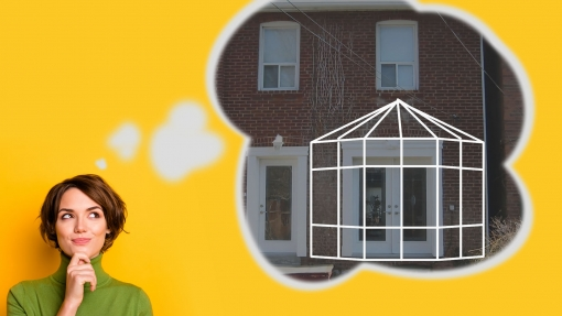 Think about where you'd like your sunroom installed